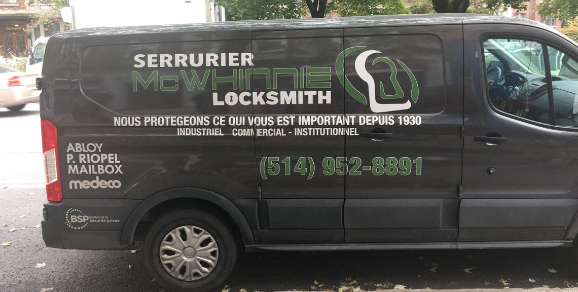 McWhinnie Locksmith truck